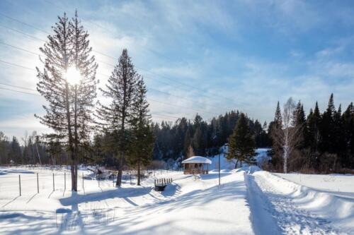 Панорама Елового ручья Февраль 2021г